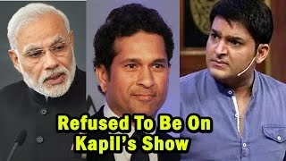 15 Celebrities Who Refused To Be On Kapil Sharma's Show