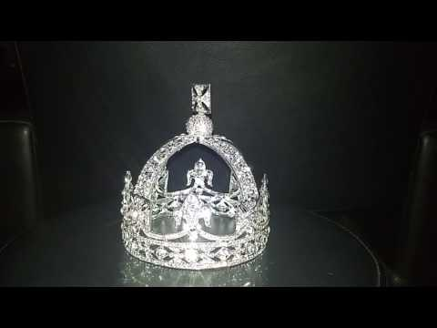 Queen Victoria's Small Diamond Crown Crown Jewels Copy Replica Fake Faux