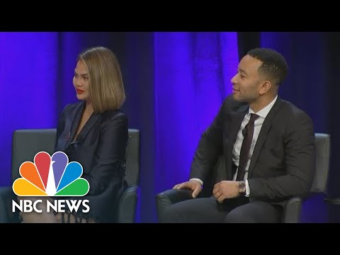 Chrissy Teigen, John Legend On Social Media & Politics At House Democratic Caucus Retreat | NBC News