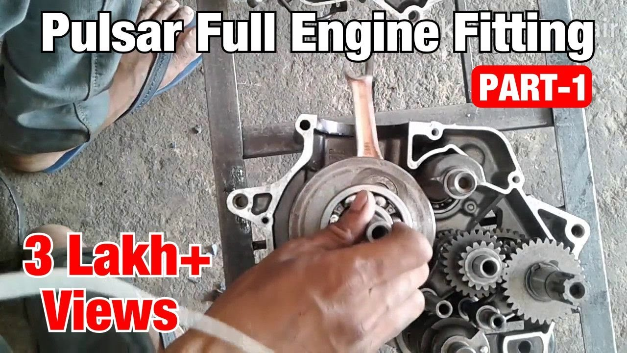 medium resolution of bajaj pulsar 180cc full engine fitting part 1
