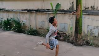 My son playing football