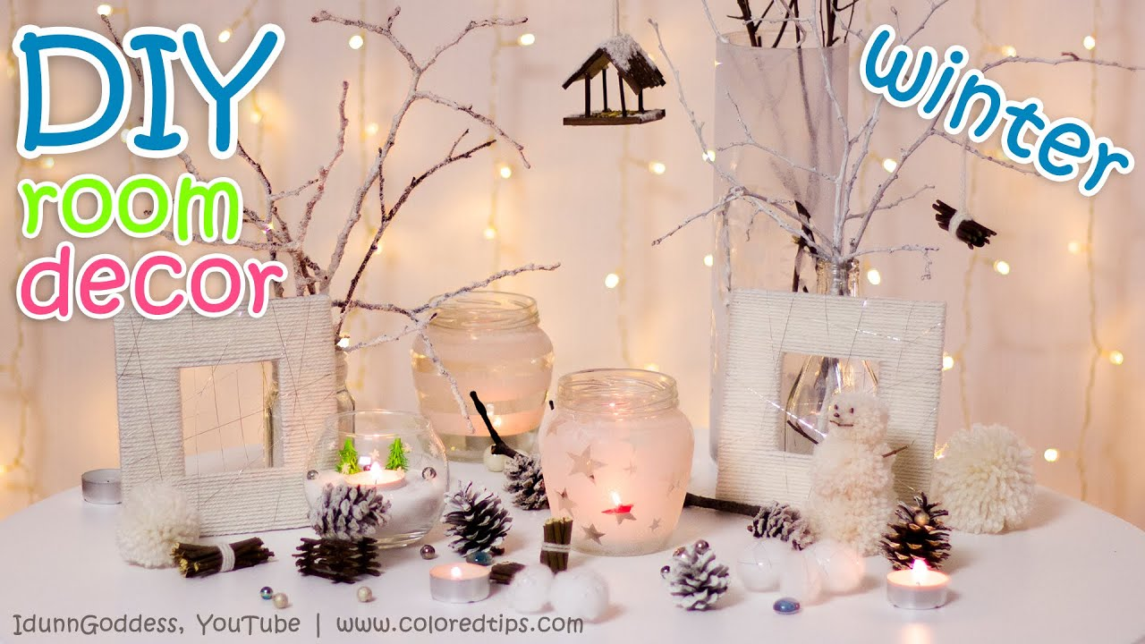 10 diy winter room decor ideas youtube - Christmas Room Decoration Ideas