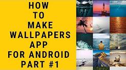 How To Make Wallpaper App Youtube
