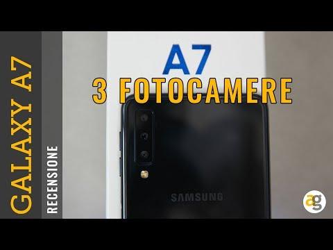 Recensione GALAXY A7 SAMSUNG con 3 FOTOCAMERE