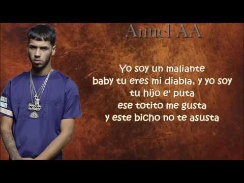Maliante hp (Remix) Letras - Benny Benni Ft.  Anuel AA, Farruko, Darkiel,y Mas