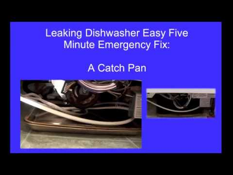 How to Repair a Leaking Dishwasher-An Emergency Fix-A Catch Pan