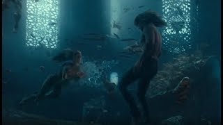 Aquaman and Mera's first Meet - Music Video (Everything I Need - Skylar Grey with Lyrics)