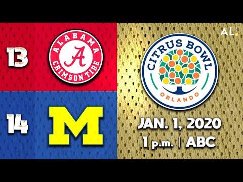 Citrus Bowl 2020 Simulation: Alabama Vs. Michigan