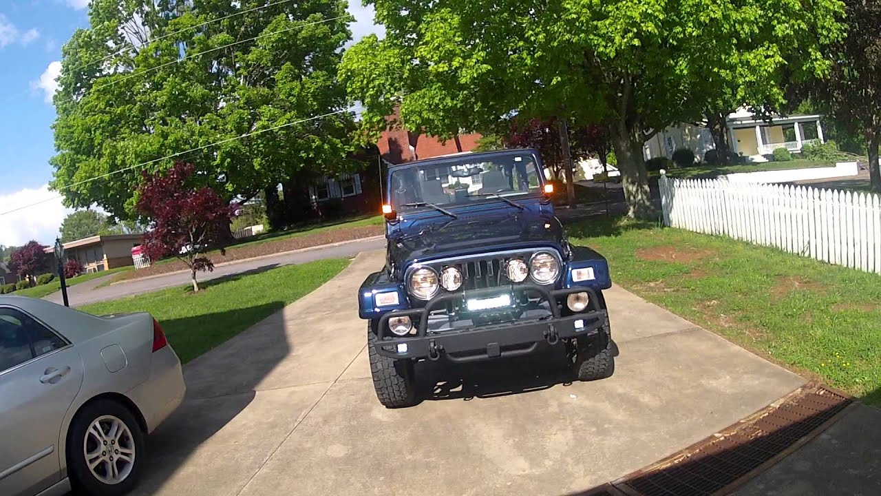 Rigid industries and kc lights on Jeep wrangler TJ unlimited
