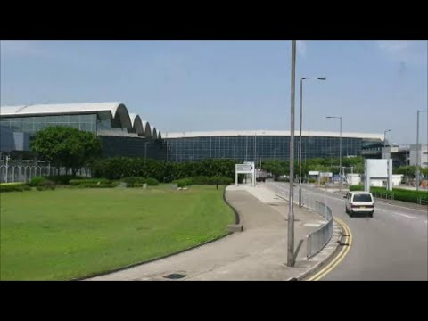Hong Kong Airport. Full Bus Trip from Tung Chung to Airport and Back. S1 Route