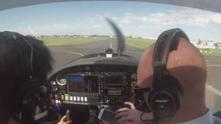 aquila a210 takeoff runway 35r at moorabbin airport