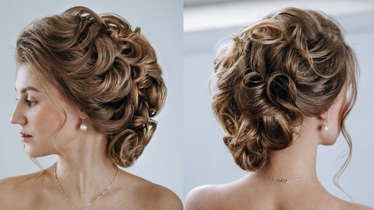 low curly updo easy pretty updo