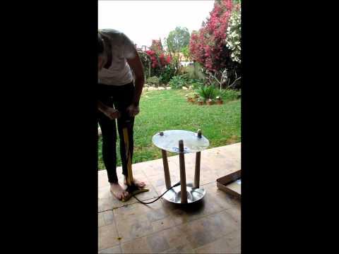 DIY inflate metal stool