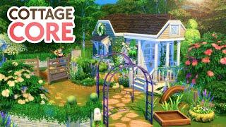 COTTAGECORE TINY HOUSE // Sims 4 Speed Build