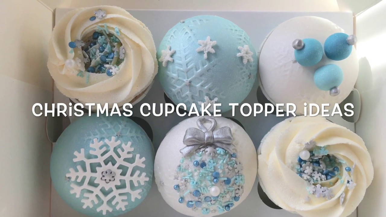 Elegant Christmas Cupcake Topper Tutorials Youtube