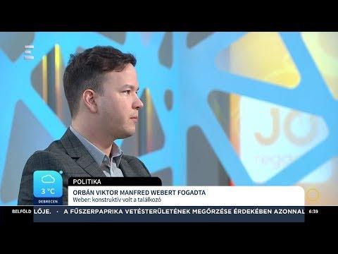 Tegnap Budapesten találkozott Orbán Viktor és Manfred Weber - Bertha László - ECHO TV