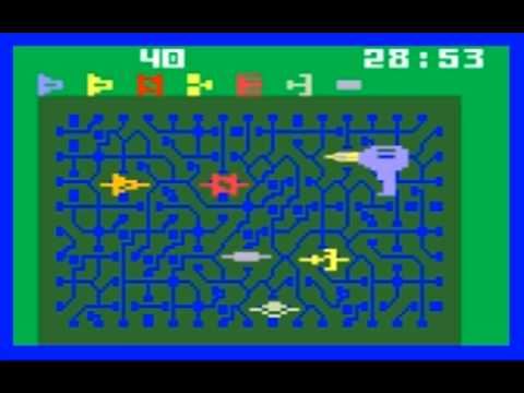 Intellivision B-17 bomber and bomb squad actual gameplay ...