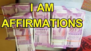 New Indian currency Visualization | I am affirmations | Indian luxury life style - law of attraction