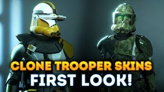 FIRST LOOK at Clone Trooper Skins! 41st Elite Corps and 327th Star Corp! - Star Wars Battlefront 2