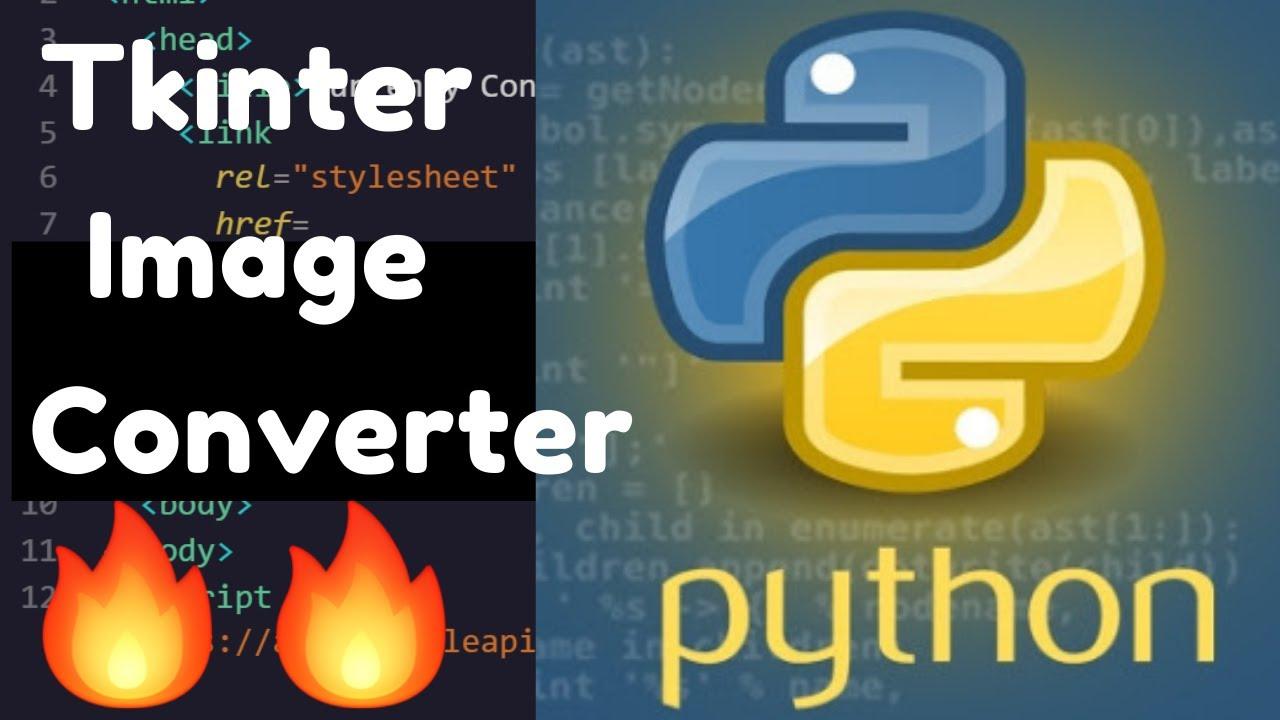 Python Tkinter GUI Image Converter of JPG to PNG