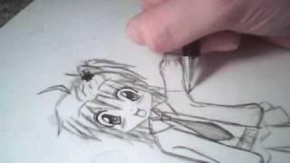 Drawing Amu from Shugo Chara!