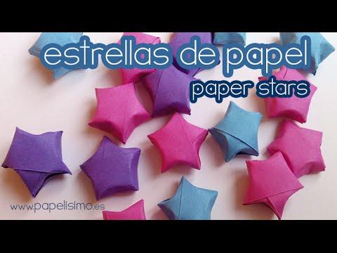 C mo hacer estrellas de papel peque as youtube - Estrellas de papel ...