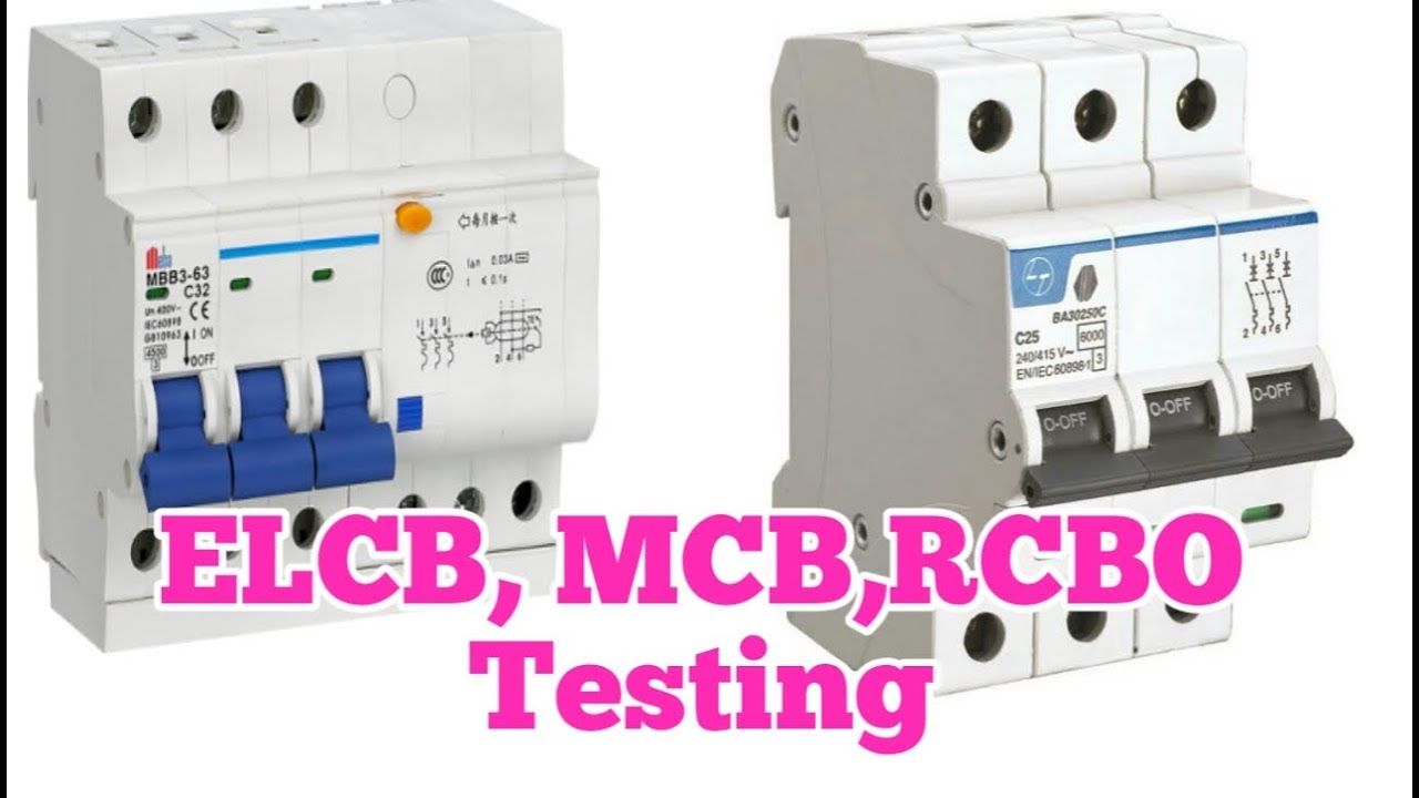How To Test Circut Breakerelcb Mcb Rcbo Full Testing By Lt Connection Diagram For Elcb Company Teacher