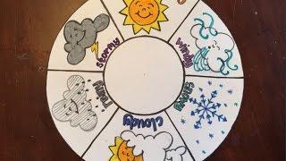 Make a weather wheel - Kids DIY