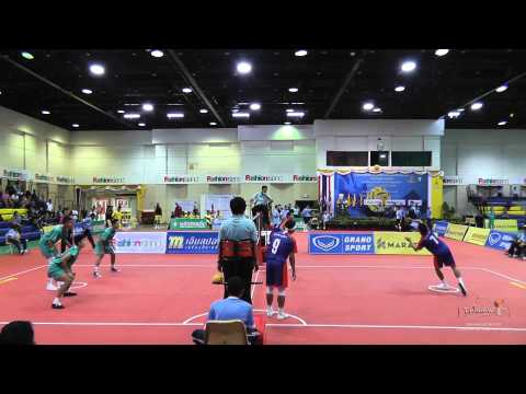 Sepak Takraw Prince Cup 2014 semi final (2nd & 3rd regu) - Army vs. Port Authority of Thailand
