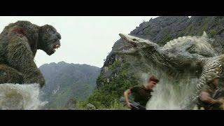 キングコングの宿敵スカル・クローラーとコングが衝突!『キングコング:髑髏島の巨神』本編映像