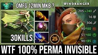 WTF Perma Invis OC + Scepter Windranger | 12Min Monkey King Bar Crazy 30Kills by 9500 MMR God Bryle