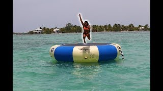 INSANE TRAMPOLINE JUMP INTO THE OCEAN!!!