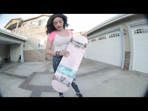 Kylie Jenner Skateboarding