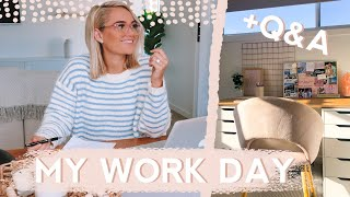 Day In The Life: WORK + Q&A II My goals? holidays? + home workout