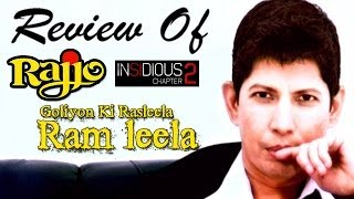 The zoOm Review Show - Goliyon Ki Rasleela Ram-Leela, Rajjo & Insidious: Chapter 2 : Online Movie Review