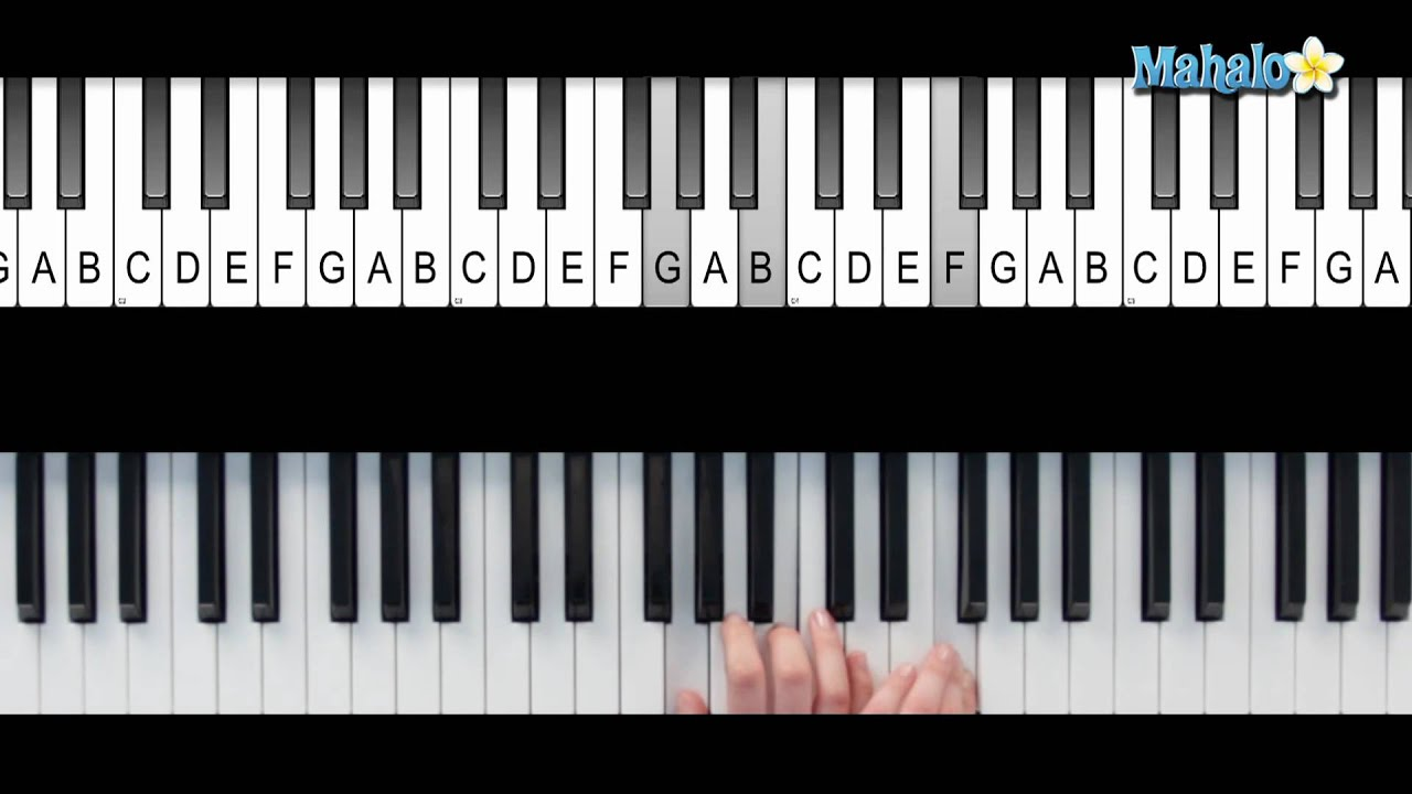 How To Play A G 7 Suspended 4 Chord G7sus4 On Piano Youtube