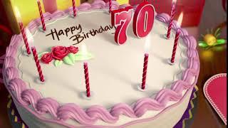 Футаж торт со свечами 🎂 на День рождения: 70 лет