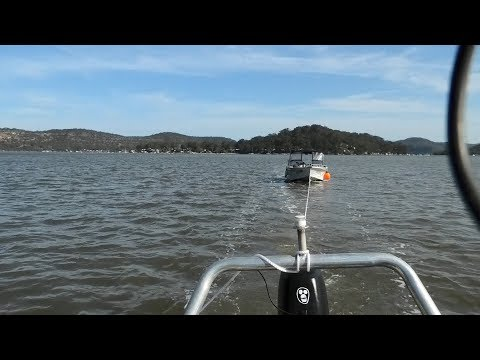 Towing A Boat Astern With Another Boat