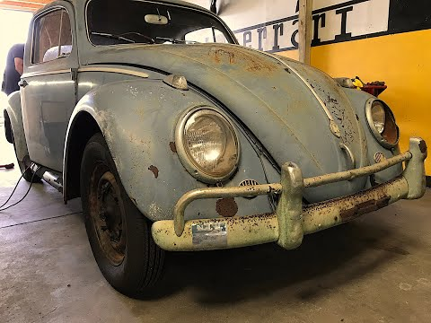 Will it Run? RARE 1959 VW Beetle! FIRST START IN OVER 40 YEARS! Volkswagen/Porsche RESTORATION, VW