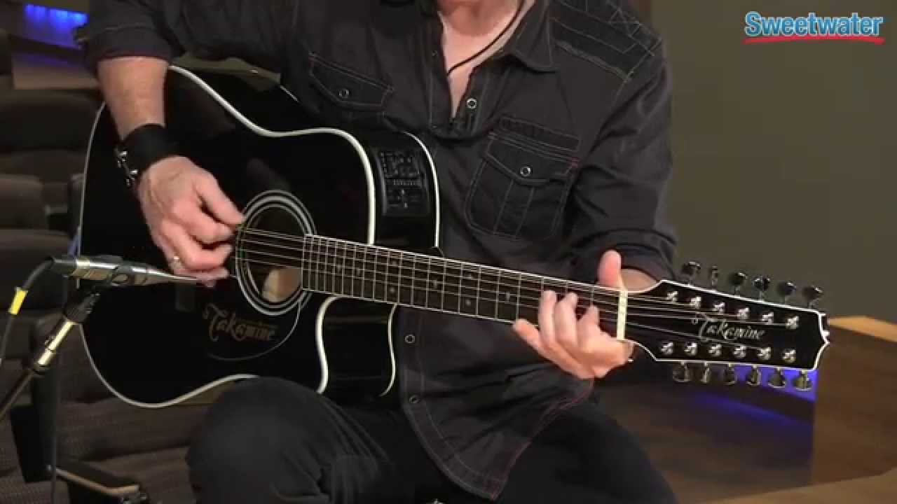 takamine ef381sc 12 string acoustic electric guitar demo sweetwater sound youtube. Black Bedroom Furniture Sets. Home Design Ideas