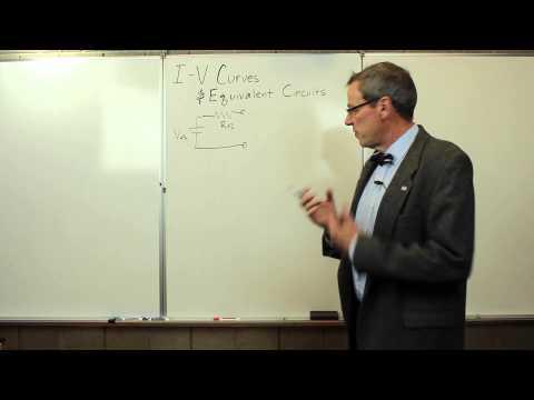 I-V Curves and Equivalent Circuits