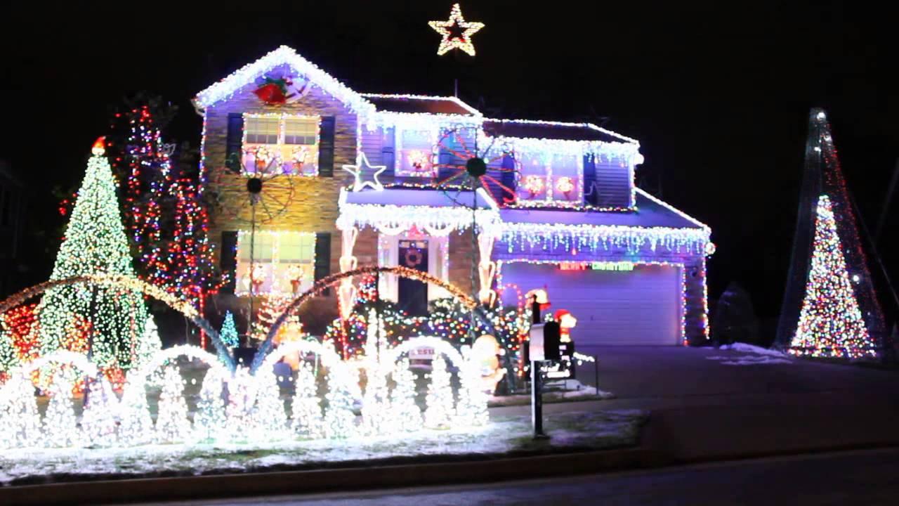 DUBSTEP Bad Santa Crazy Christmas Lights Ky - YouTube