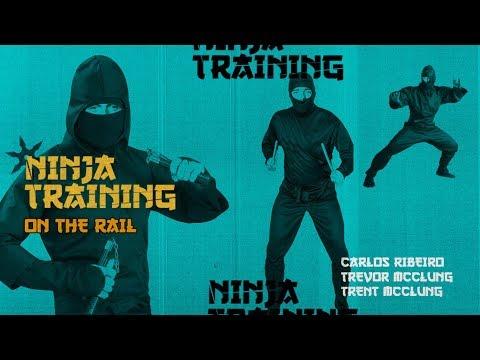 Ninja Training On The Flatbar - with Carlos Ribeiro, Trevor McClung, & Trent McClung