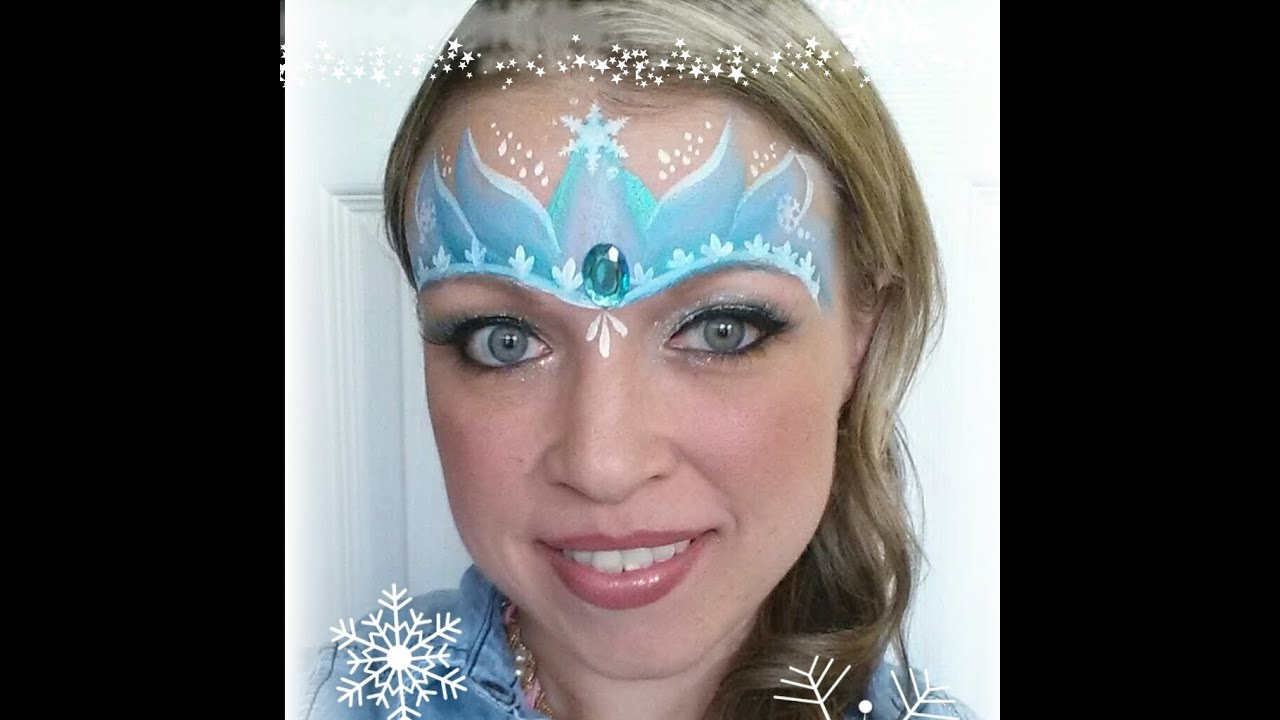 Elsa frozen inspired princess crown tutorial youtube for Frozen face paint