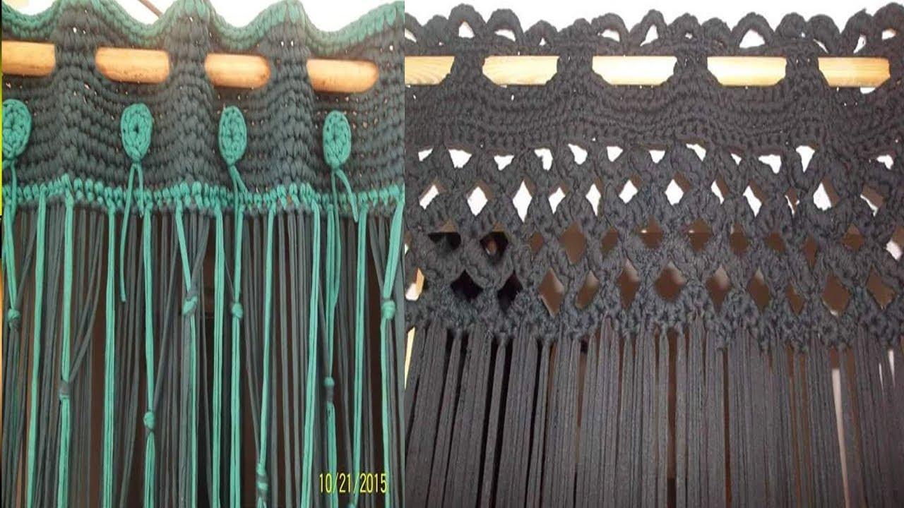 Cortinas Hechos Con Trapillo Tejidos En Crochet
