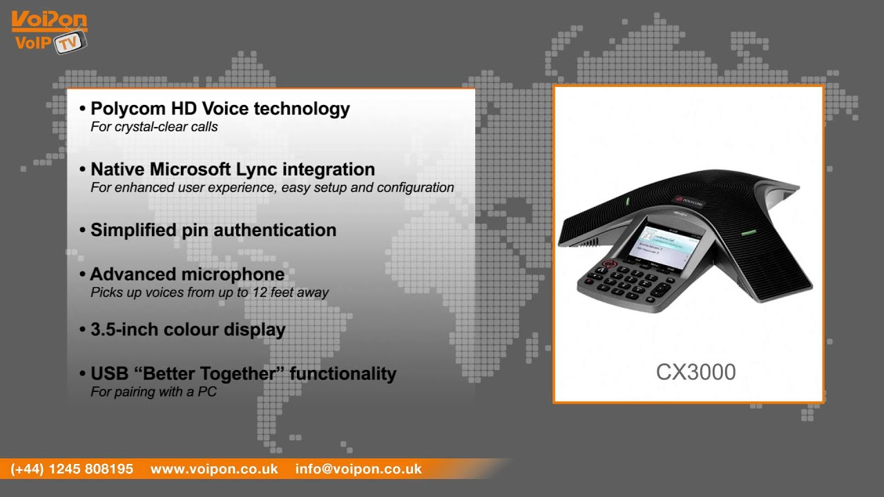 polycom cx3000 ip conference phone review unboxing rh youtube com Polycom CX300 Polycom CX700
