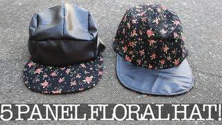 Diy: 5 Panel Floral Hat