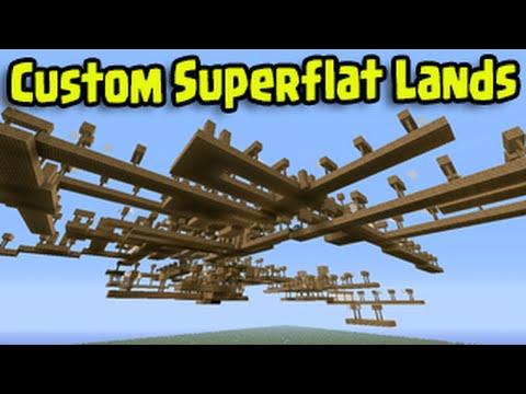 Minecraft PS3, PS4, Xbox - Custom Superflat Lands Seed Builder Title Update