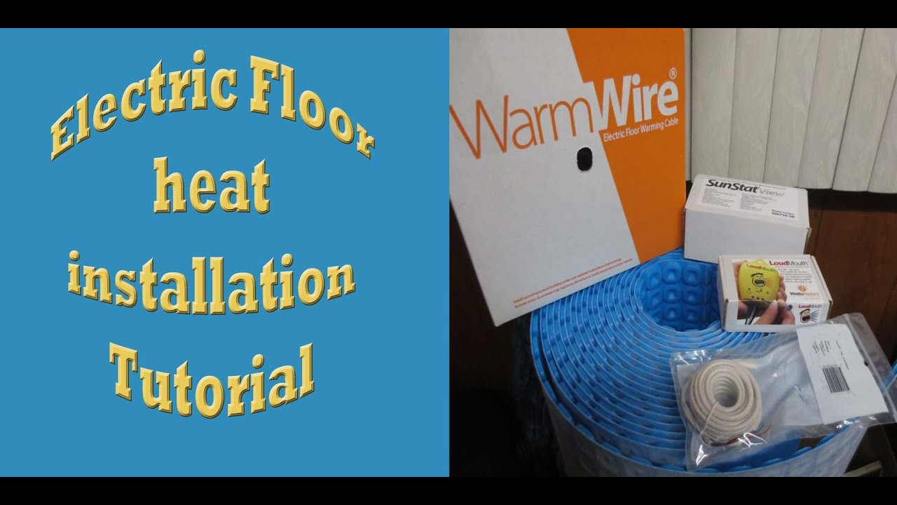 Electric floor heat installationtutorial prodeso heat with electric floor heat installationtutorial prodeso heat with suntouch warm wire dailygadgetfo Choice Image