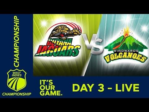 Guyana v Windwards - Day 3 | West Indies Championship | Saturday 12th January 2019